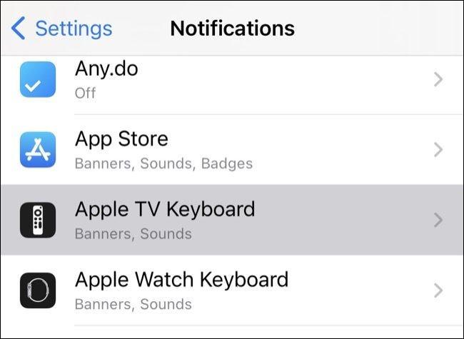 如何在 iPhone 和 iPad 上禁用 Apple TV 键盘通知