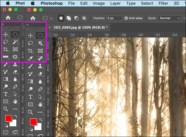 如何将 Photoshop 的工具重置为默认值
