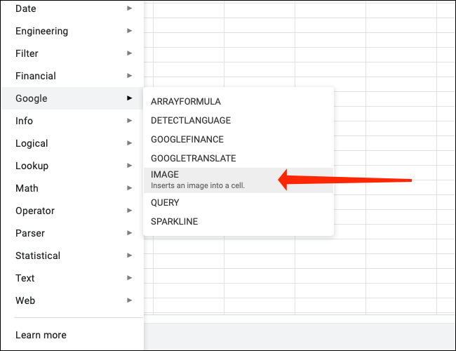 如何在 Google 表格的单元格中插入图像