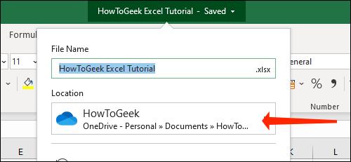 如何将 Microsoft Excel 文件自动保存到 OneDrive