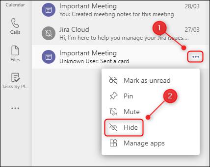 如何在 Microsoft Teams 中隐藏、固定和筛选聊天