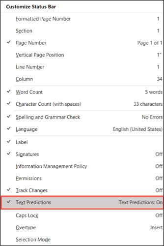 如何在 Microsoft Word 中打开和使用文本预测