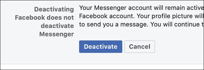 如何停用您的 Facebook 帐户
