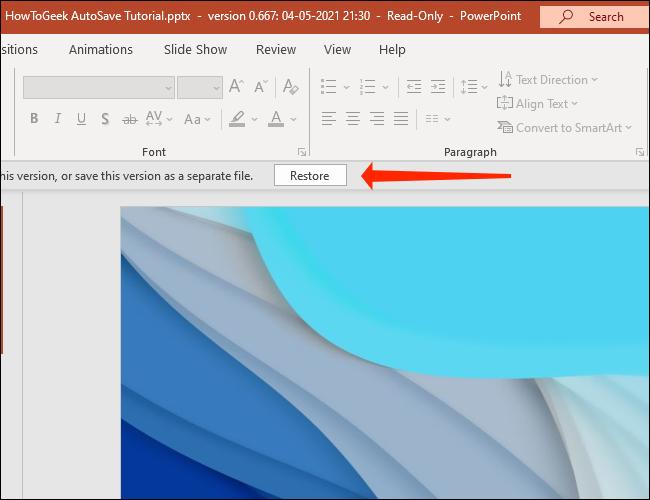如何查看和恢复旧版本的 PowerPoint 文件