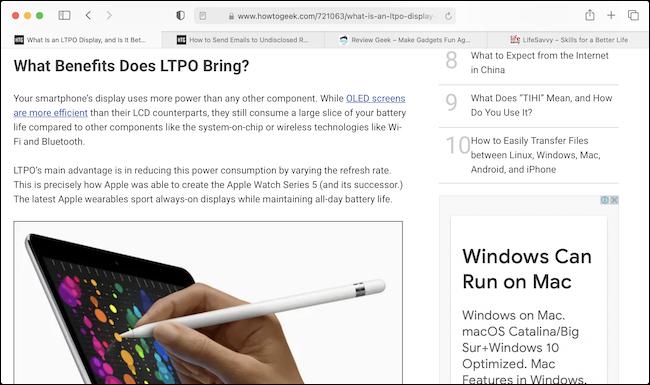 如何在 Mac 上的 Safari 中自动放大小字体