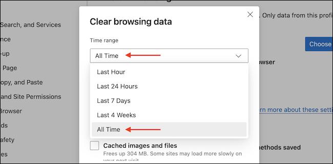 如何清除 Microsoft Edge 中的浏览历史记录