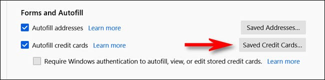 如何在 Firefox 中查看您保存的信用卡号