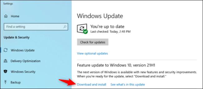 如何安装 Windows 10 的 2021 年 5 月更新(21H1)