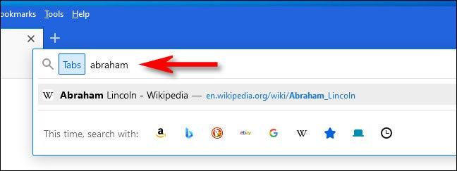 如何在 Firefox 中快速搜索打开的标签页