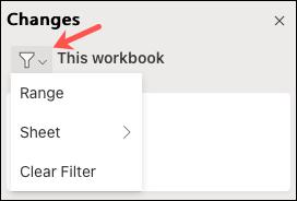 在 Excel for Web 中进行协作时如何显示更改