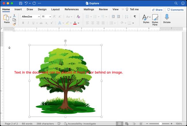如何在 Google Docs 中将图像定位在文本的后面或前面