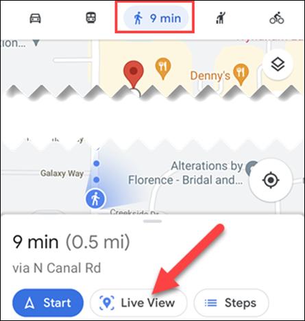 如何在 Google 地图中查看 3D 步行路线