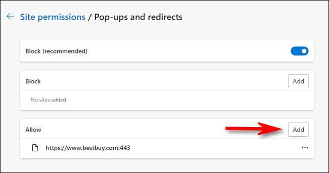 如何在 Microsoft Edge 中允许弹出窗口