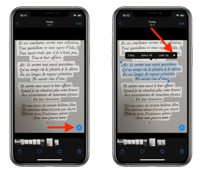 iOS 15:如何翻译照片中的文本