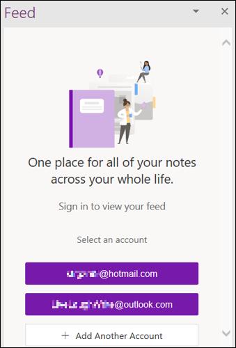 如何在 Microsoft OneNote 中使用订阅源