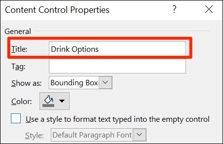 如何在 Word 文档中添加下拉列表