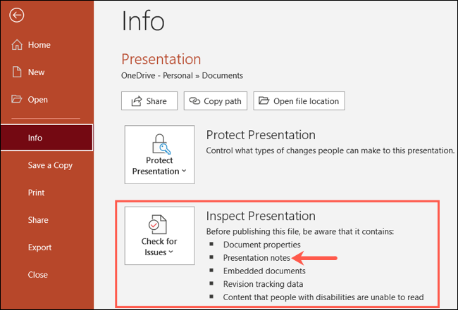 如何在 Microsoft PowerPoint 中一次删除所有演示文稿备注