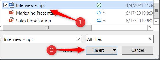 如何在 OneNote 笔记中插入 Word 文档