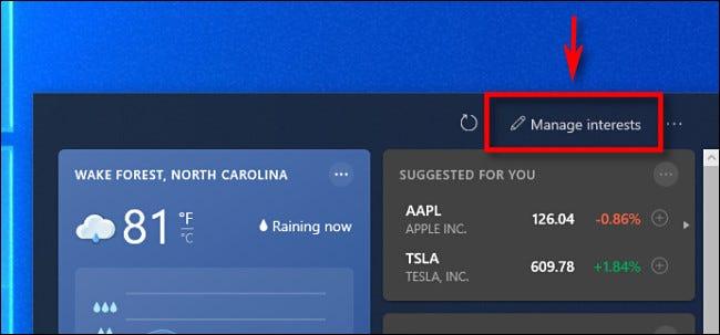 如何配置 Windows 10 的天气和新闻任务栏小部件