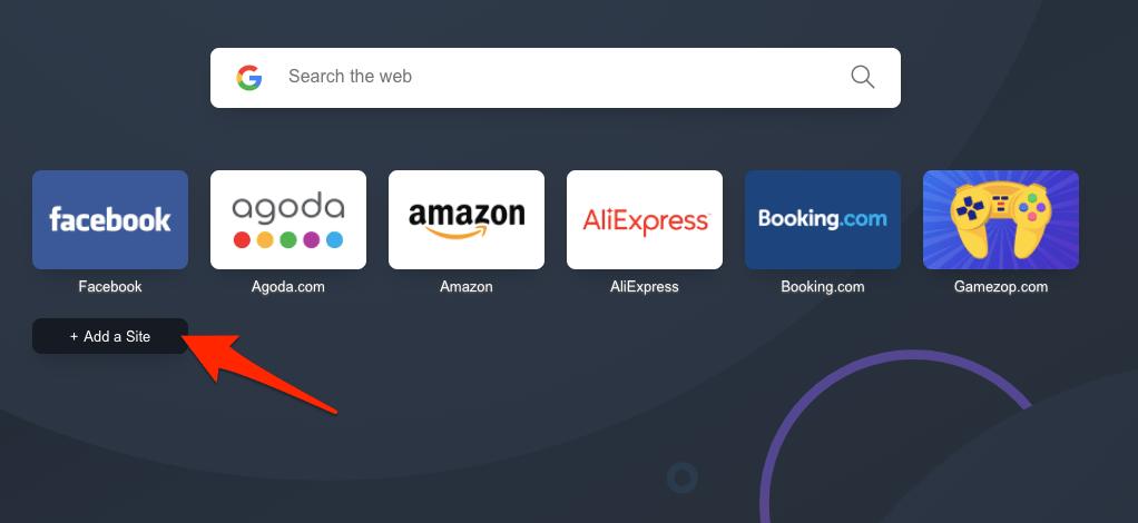 如何在 Opera 计算机上将站点添加到主屏幕?