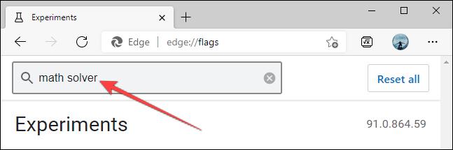 如何禁用和删除 Microsoft Edge Math Solver