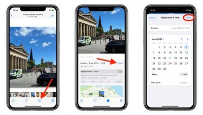 iOS 15:如何调整照片的日期和时间
