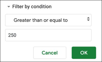 如何在 Google 表格中过滤