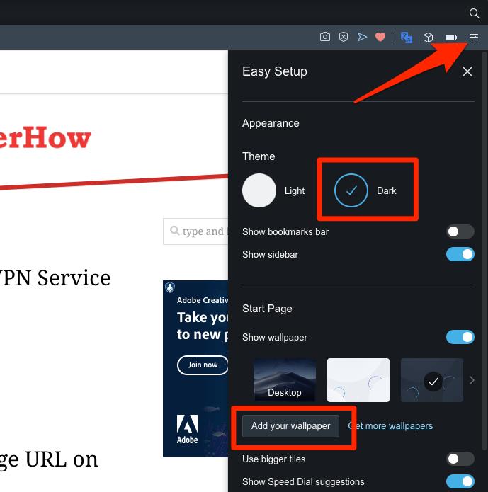 如何在Opera电脑上更改主题和外观?
