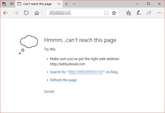 [已修复] 我们无法在 Microsoft Edge 中访问此页面问题