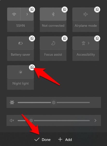 如何在 Windows 11 上自定义操作中心快捷方式?