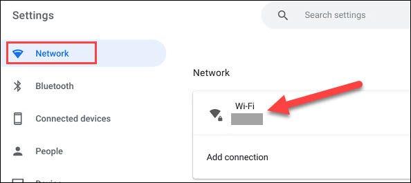 如何在 Chromebook 上忘记 Wi-Fi 网络