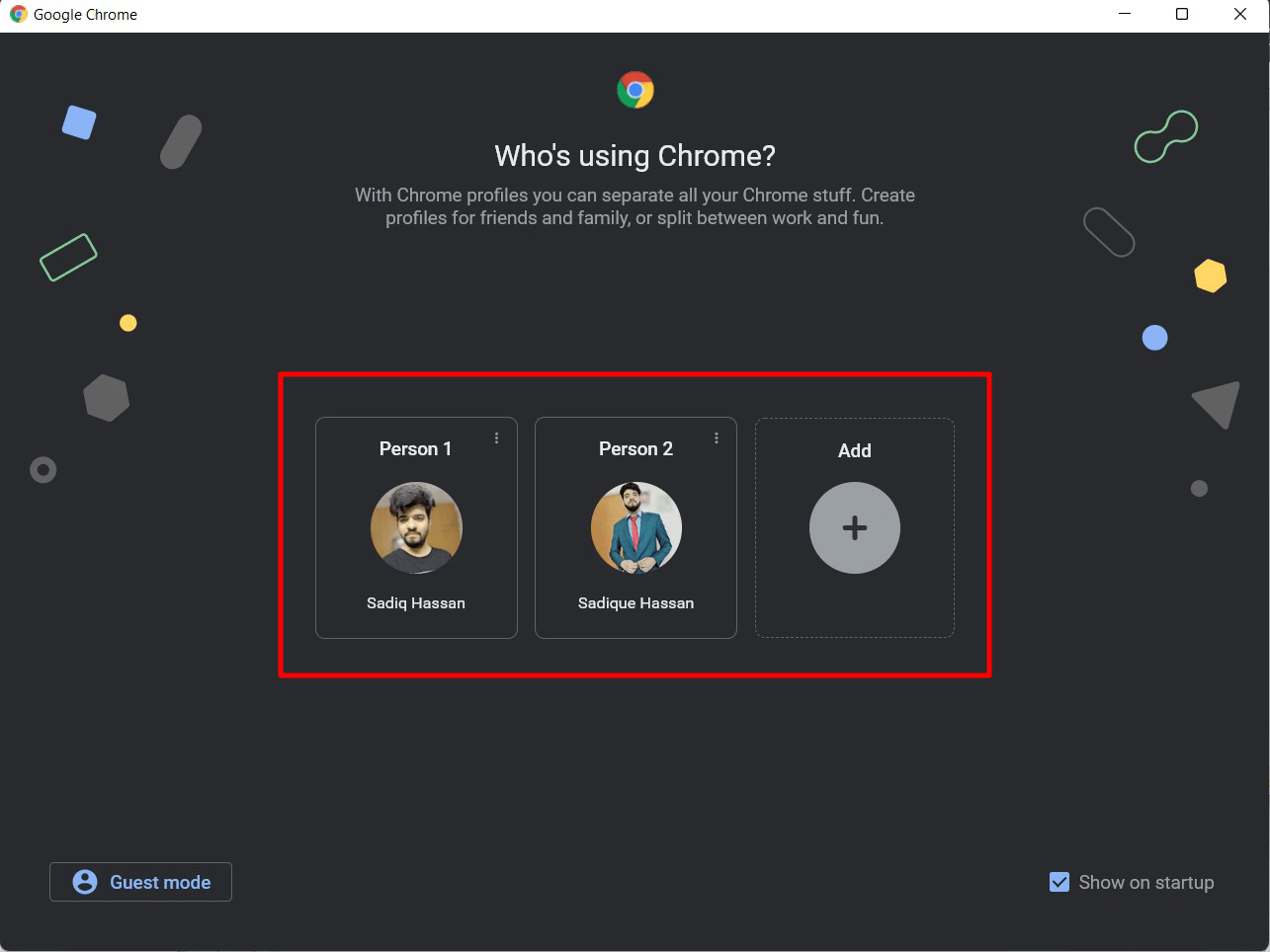 如何在 Chrome 用户配置文件之间切换?