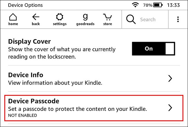如何为 Kindle 添加密码