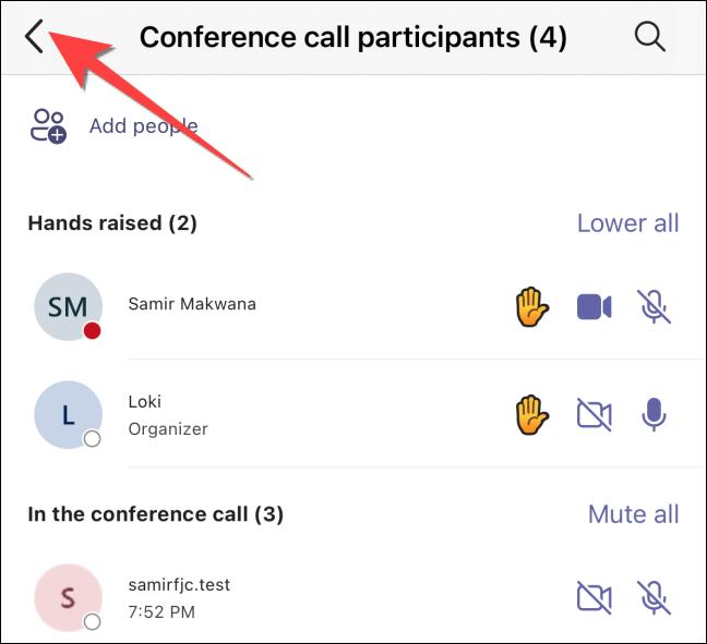 如何在 Microsoft Teams 会议中举手