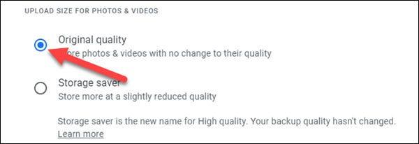 如何更改 Google 相册备份质量