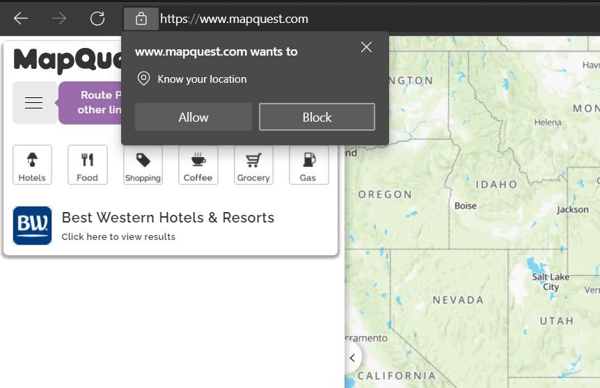 如何在 Edge 浏览器中允许或禁用位置请求?
