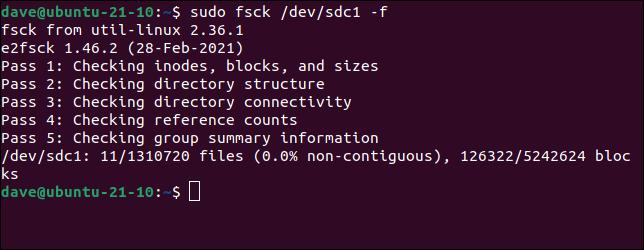 如何在 Linux 上使用 fsck 命令