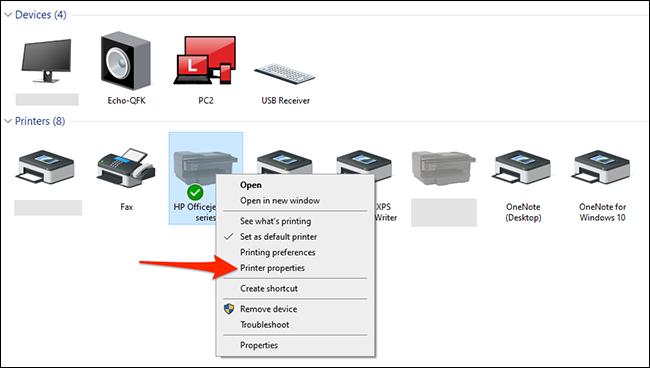 如何在 Windows 10 中打印测试页