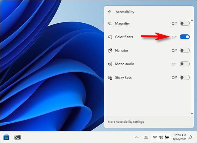 如何在 Windows 11 中使用颜色过滤器