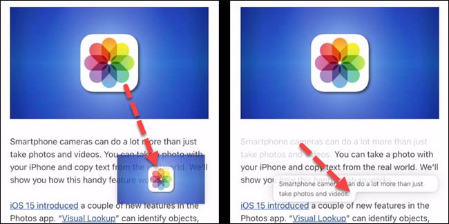 如何在 iPhone 应用程序之间拖放照片和文本