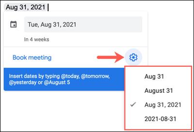 如何在 Google Docs 中使用交互式日期