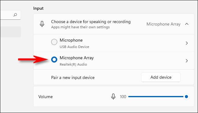 如何在 Windows 11 上选择麦克风