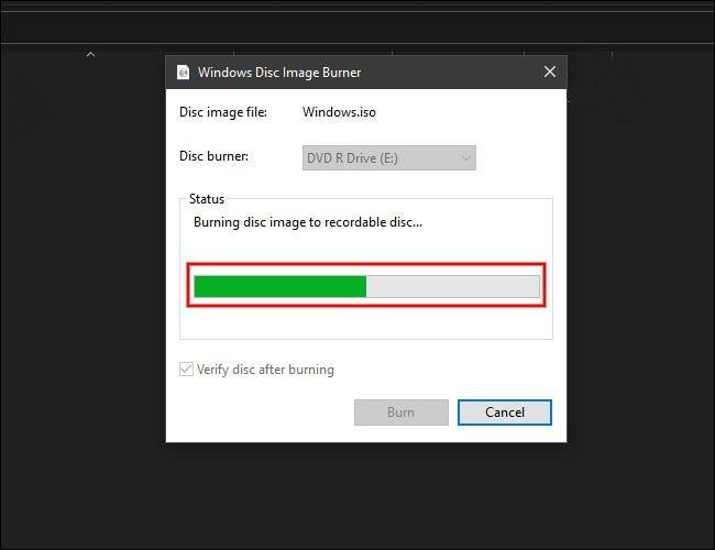 如何在 Windows 10 上将 ISO 映像刻录到光盘
