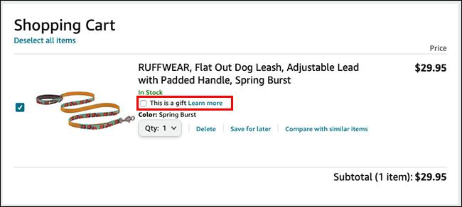 如何通过亚马逊购买提供礼品收据