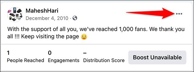 如何在 Facebook 上固定帖子