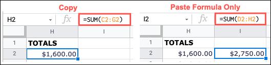 如何在 Google 表格中使用粘贴特殊选项