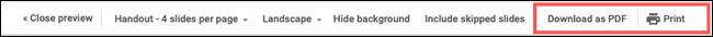 如何打印 Google 幻灯片演示文稿
